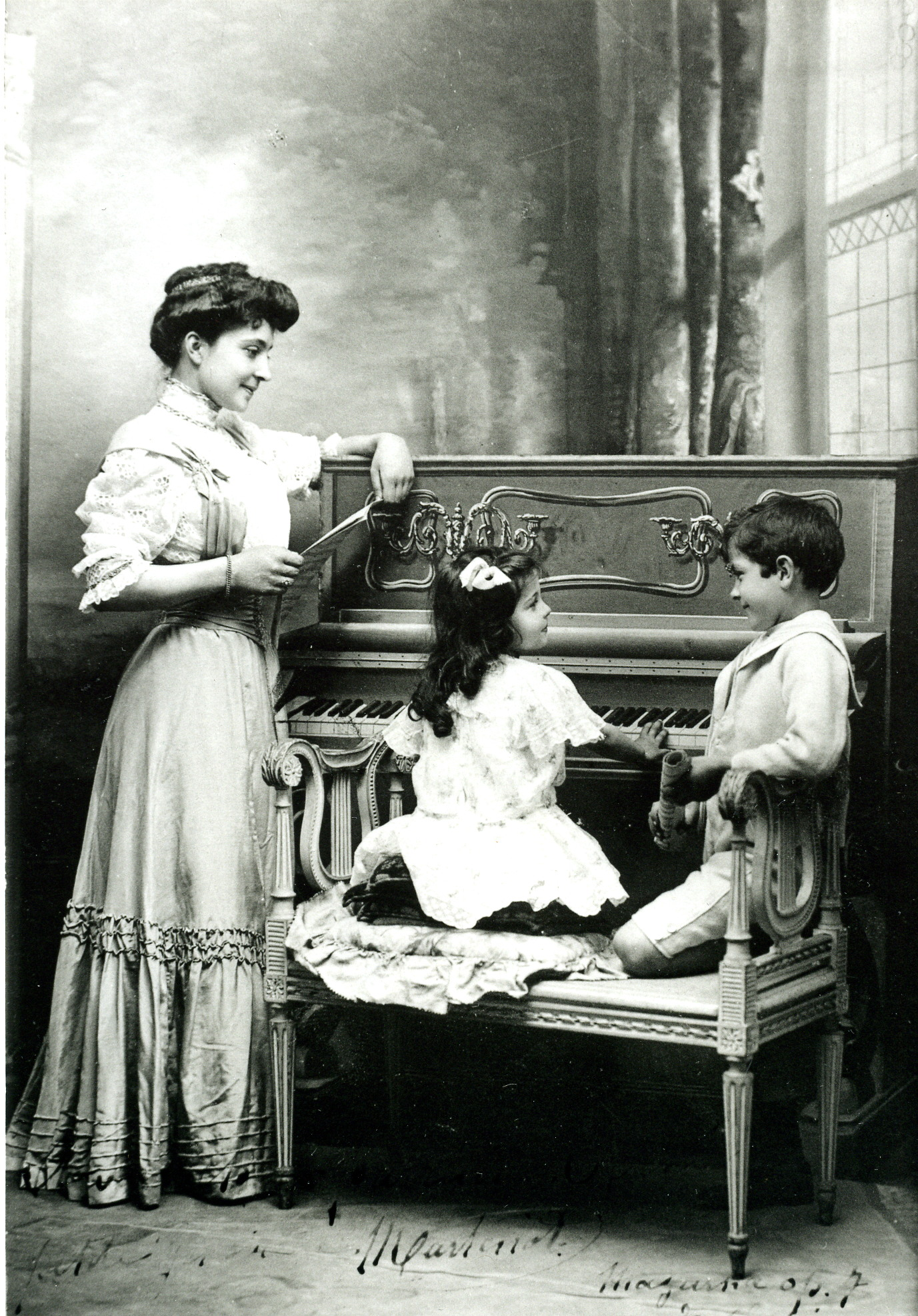 Les trois Martenot : Madeleine, Ginette, Maurice.