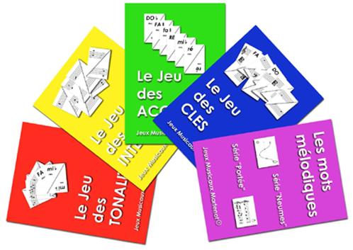 Jeux Musicaux Martenot, Les cartes à jouer