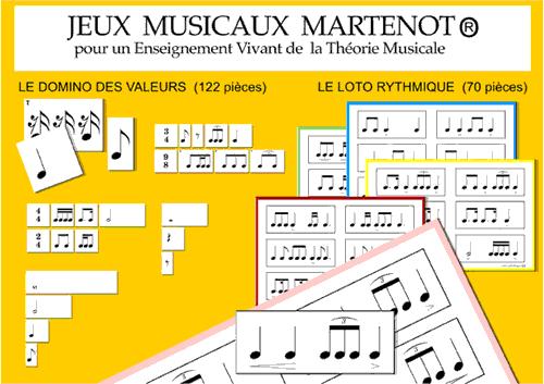 Jeux Musicaux Martenot, domino et loto